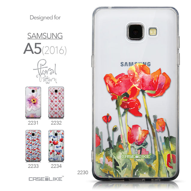 Collection - CASEiLIKE Samsung Galaxy A5 (2016) back cover Watercolor Floral 2230