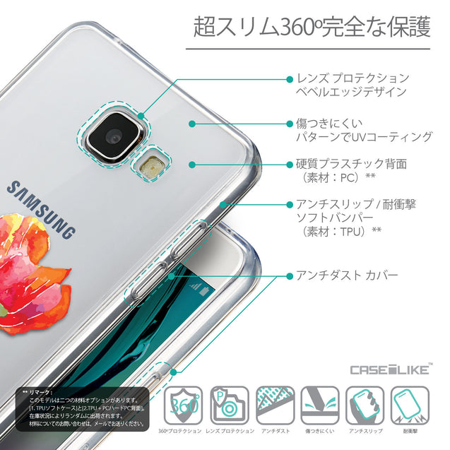 Details in Japanese - CASEiLIKE Samsung Galaxy A5 (2016) back cover Watercolor Floral 2230