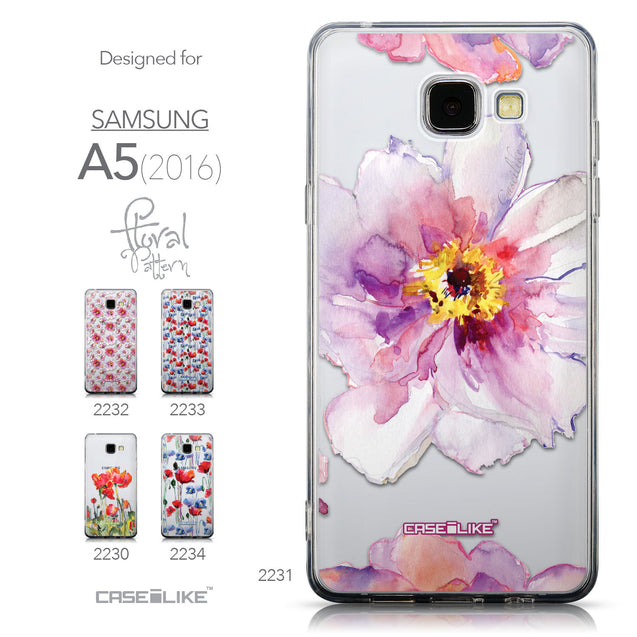 Collection - CASEiLIKE Samsung Galaxy A5 (2016) back cover Watercolor Floral 2231