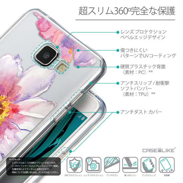 Details in Japanese - CASEiLIKE Samsung Galaxy A5 (2016) back cover Watercolor Floral 2231