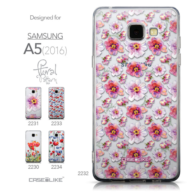 Collection - CASEiLIKE Samsung Galaxy A5 (2016) back cover Watercolor Floral 2232