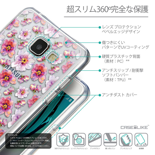 Details in Japanese - CASEiLIKE Samsung Galaxy A5 (2016) back cover Watercolor Floral 2232