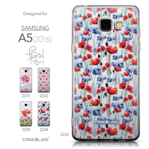 Collection - CASEiLIKE Samsung Galaxy A5 (2016) back cover Watercolor Floral 2233