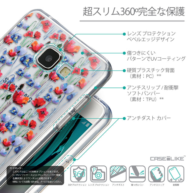 Details in Japanese - CASEiLIKE Samsung Galaxy A5 (2016) back cover Watercolor Floral 2233