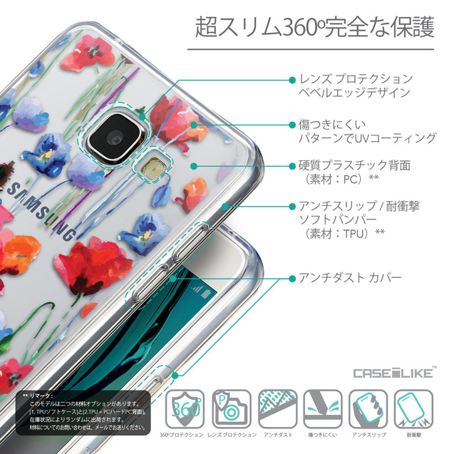 Details in Japanese - CASEiLIKE Samsung Galaxy A5 (2016) back cover Indian Line Art 2061
