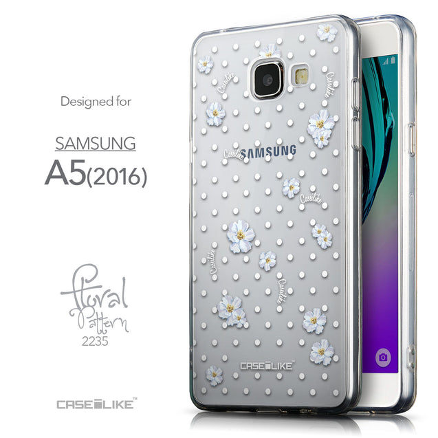 Front & Side View - CASEiLIKE Samsung Galaxy A5 (2016) back cover Indian Line Art 2061