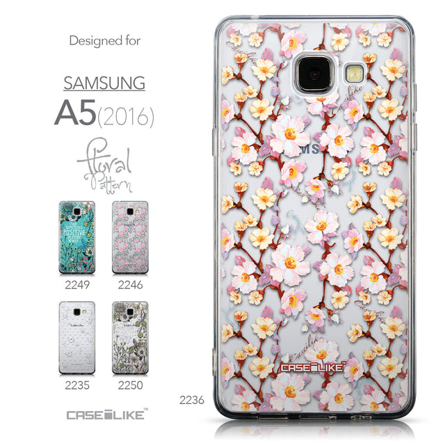 Collection - CASEiLIKE Samsung Galaxy A5 (2016) back cover Watercolor Floral 2236