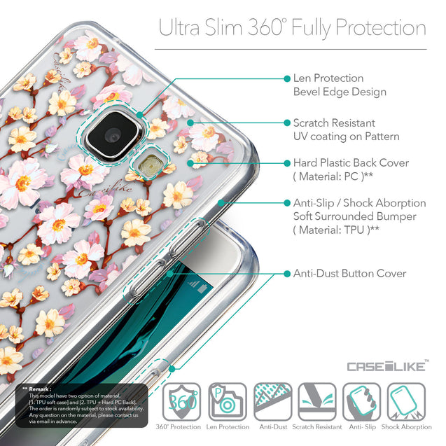 Details in English - CASEiLIKE Samsung Galaxy A5 (2016) back cover Watercolor Floral 2236