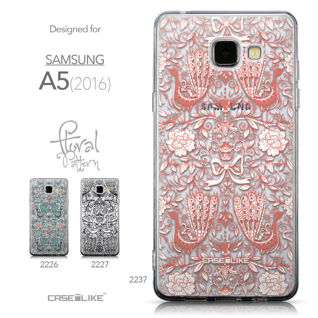 Collection - CASEiLIKE Samsung Galaxy A5 (2016) back cover Roses Ornamental Skulls Peacocks 2237