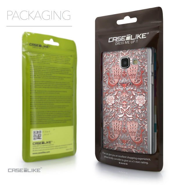 Packaging - CASEiLIKE Samsung Galaxy A5 (2016) back cover Roses Ornamental Skulls Peacocks 2237