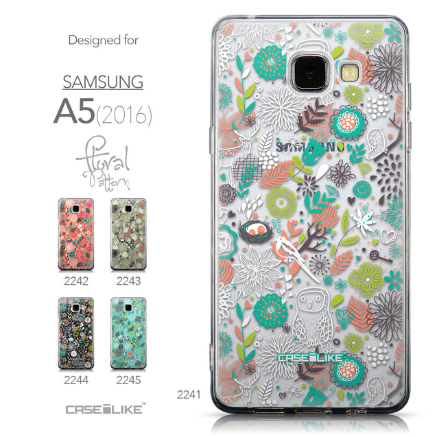 Collection - CASEiLIKE Samsung Galaxy A5 (2016) back cover Spring Forest White 2241