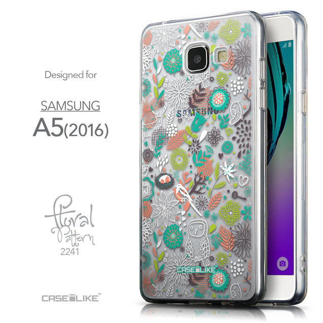 Front & Side View - CASEiLIKE Samsung Galaxy A5 (2016) back cover Spring Forest White 2241