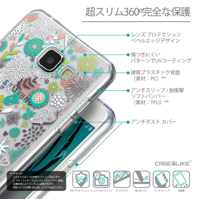 Details in Japanese - CASEiLIKE Samsung Galaxy A5 (2016) back cover Spring Forest White 2241