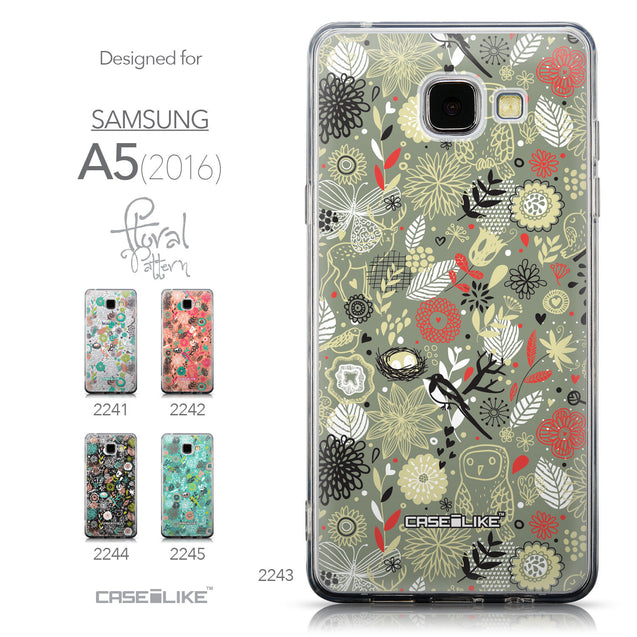 Collection - CASEiLIKE Samsung Galaxy A5 (2016) back cover Spring Forest Gray 2243