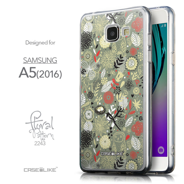 Front & Side View - CASEiLIKE Samsung Galaxy A5 (2016) back cover Spring Forest Gray 2243