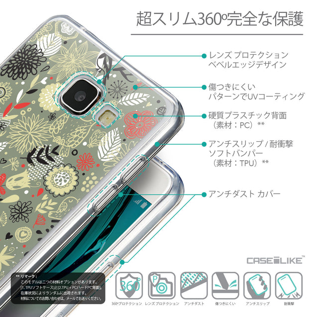 Details in Japanese - CASEiLIKE Samsung Galaxy A5 (2016) back cover Spring Forest Gray 2243