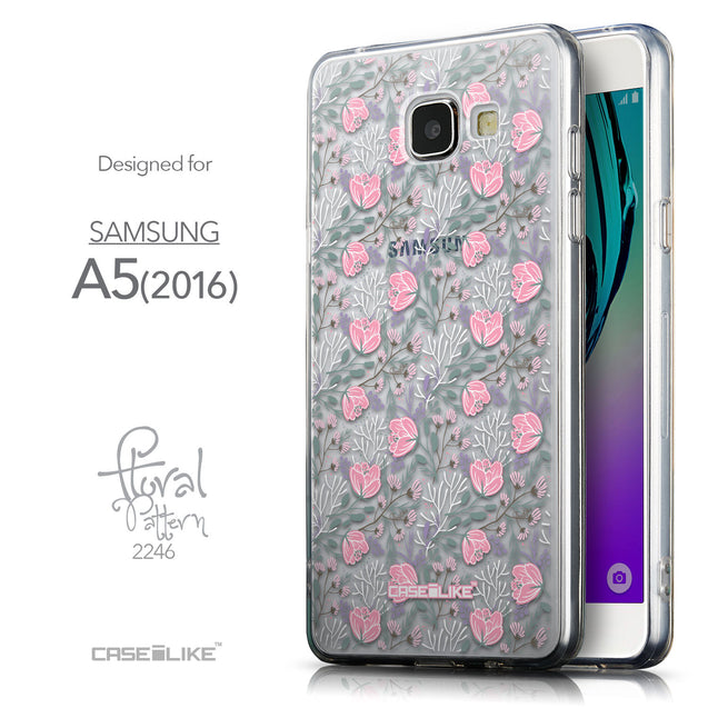 Front & Side View - CASEiLIKE Samsung Galaxy A5 (2016) back cover Flowers Herbs 2246