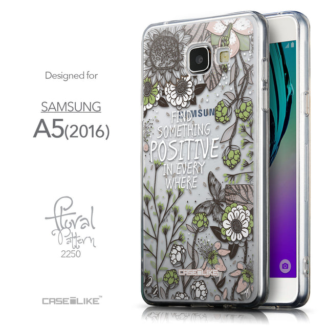 Front & Side View - CASEiLIKE Samsung Galaxy A5 (2016) back cover Blooming Flowers 2250