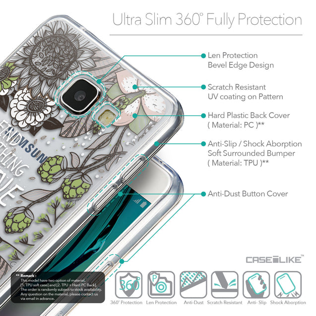 Details in English - CASEiLIKE Samsung Galaxy A5 (2016) back cover Blooming Flowers 2250