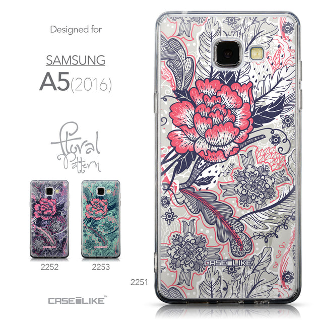 Collection - CASEiLIKE Samsung Galaxy A5 (2016) back cover Vintage Roses and Feathers Beige 2251