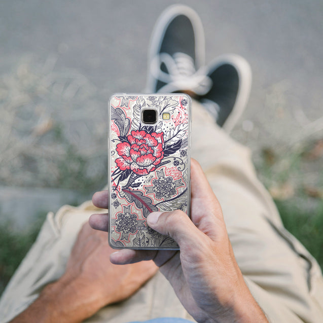 Share - CASEiLIKE Samsung Galaxy A5 (2016) back cover Vintage Roses and Feathers Beige 2251