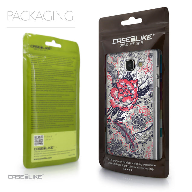 Packaging - CASEiLIKE Samsung Galaxy A5 (2016) back cover Vintage Roses and Feathers Beige 2251