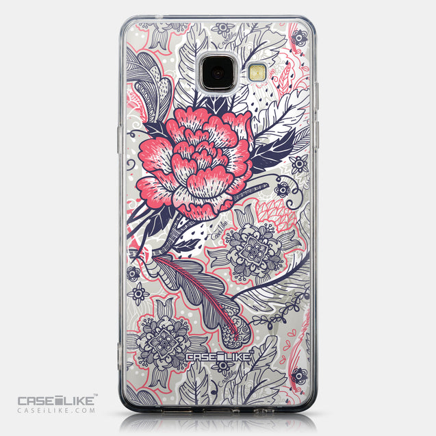 CASEiLIKE Samsung Galaxy A5 (2016) back cover Vintage Roses and Feathers Beige 2251