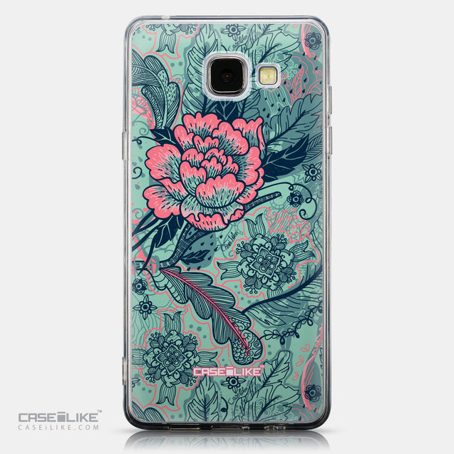CASEiLIKE Samsung Galaxy A5 (2016) back cover Vintage Roses and Feathers Turquoise 2253