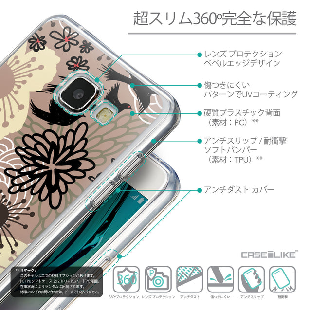 Details in Japanese - CASEiLIKE Samsung Galaxy A5 (2016) back cover Japanese Floral 2254