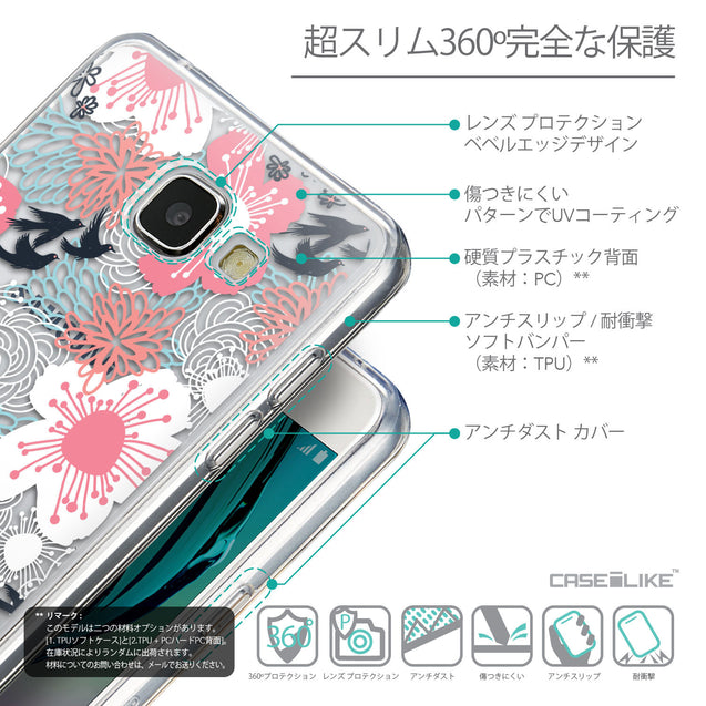 Details in Japanese - CASEiLIKE Samsung Galaxy A5 (2016) back cover Japanese Floral 2255
