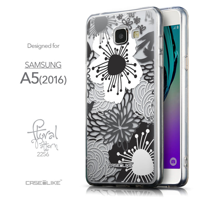 Front & Side View - CASEiLIKE Samsung Galaxy A5 (2016) back cover Japanese Floral 2256