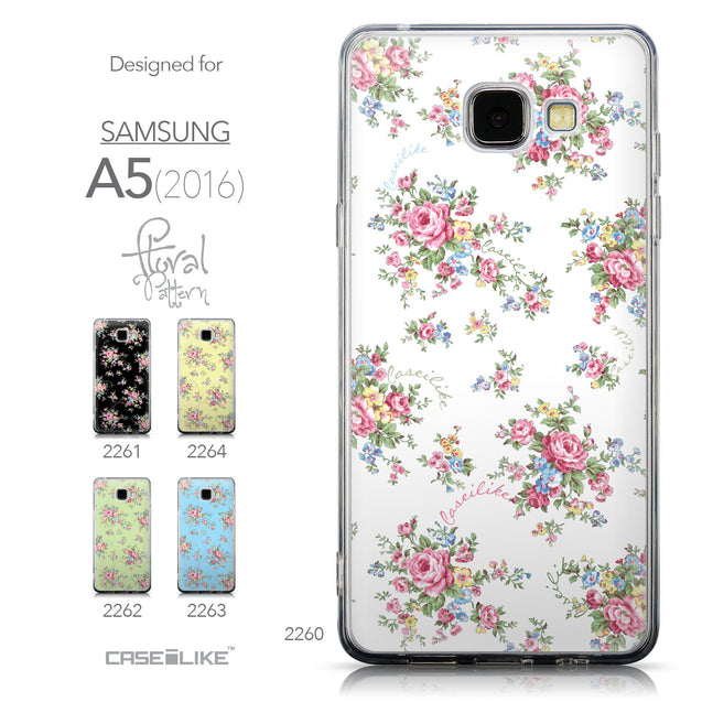 Collection - CASEiLIKE Samsung Galaxy A5 (2016) back cover Floral Rose Classic 2260