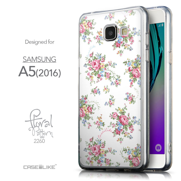 Front & Side View - CASEiLIKE Samsung Galaxy A5 (2016) back cover Floral Rose Classic 2260