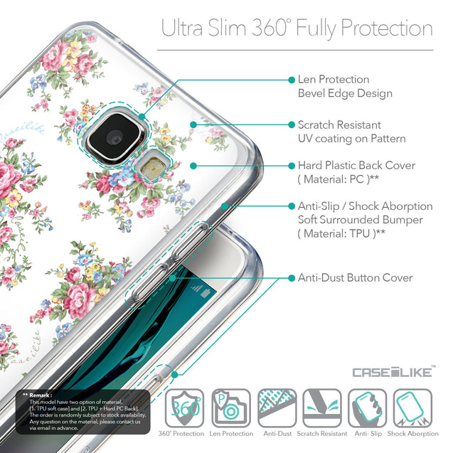 Details in English - CASEiLIKE Samsung Galaxy A5 (2016) back cover Floral Rose Classic 2260