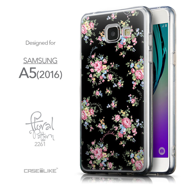 Front & Side View - CASEiLIKE Samsung Galaxy A5 (2016) back cover Floral Rose Classic 2261