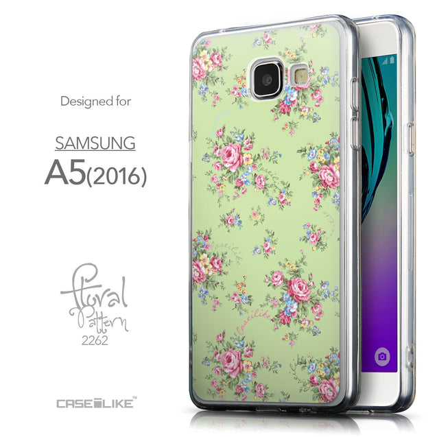 Front & Side View - CASEiLIKE Samsung Galaxy A5 (2016) back cover Floral Rose Classic 2262
