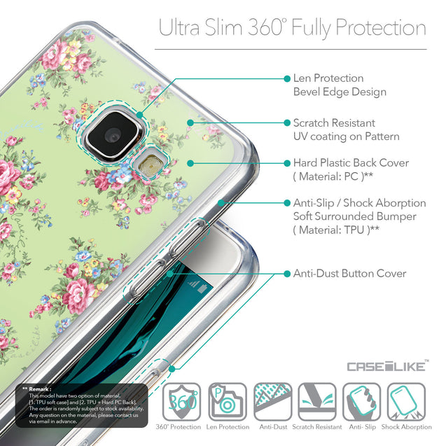 Details in English - CASEiLIKE Samsung Galaxy A5 (2016) back cover Floral Rose Classic 2262