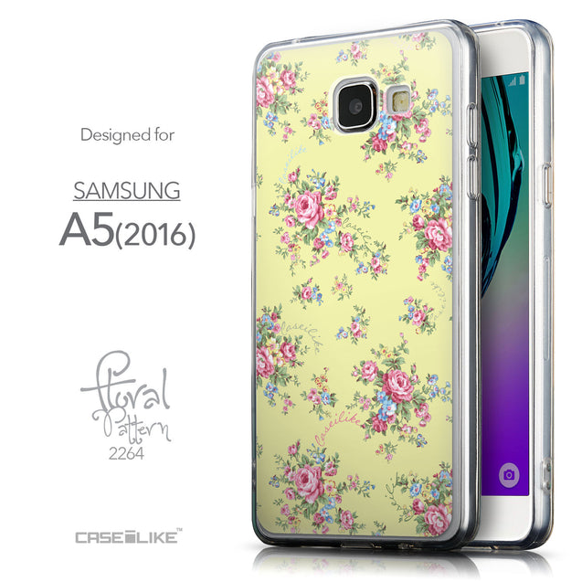 Front & Side View - CASEiLIKE Samsung Galaxy A5 (2016) back cover Floral Rose Classic 2264