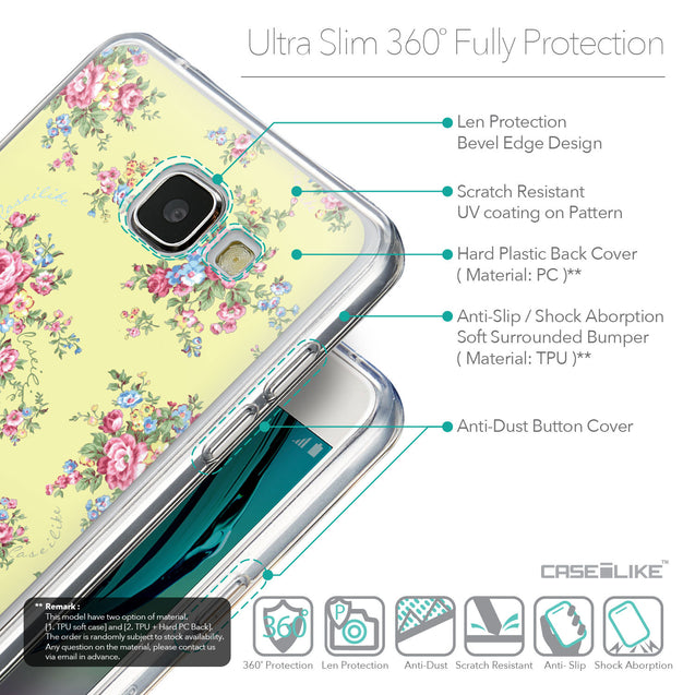 Details in English - CASEiLIKE Samsung Galaxy A5 (2016) back cover Floral Rose Classic 2264