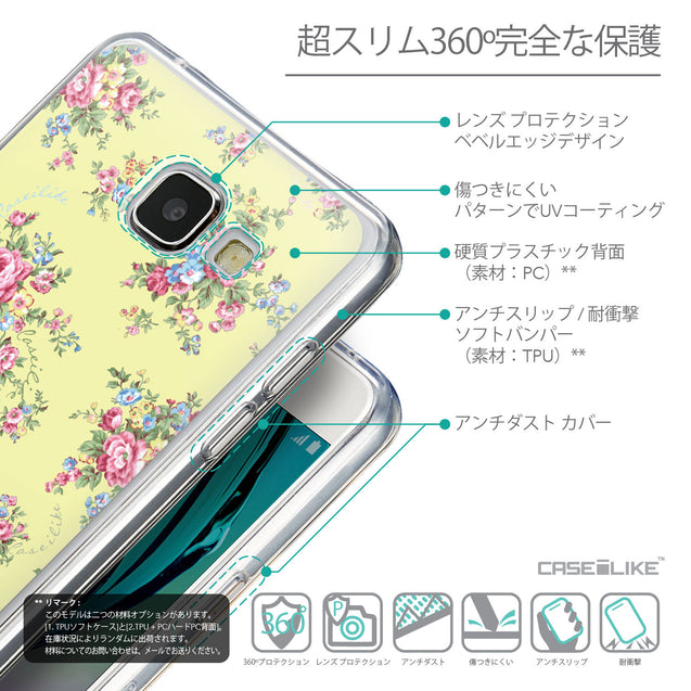 Details in Japanese - CASEiLIKE Samsung Galaxy A5 (2016) back cover Floral Rose Classic 2264