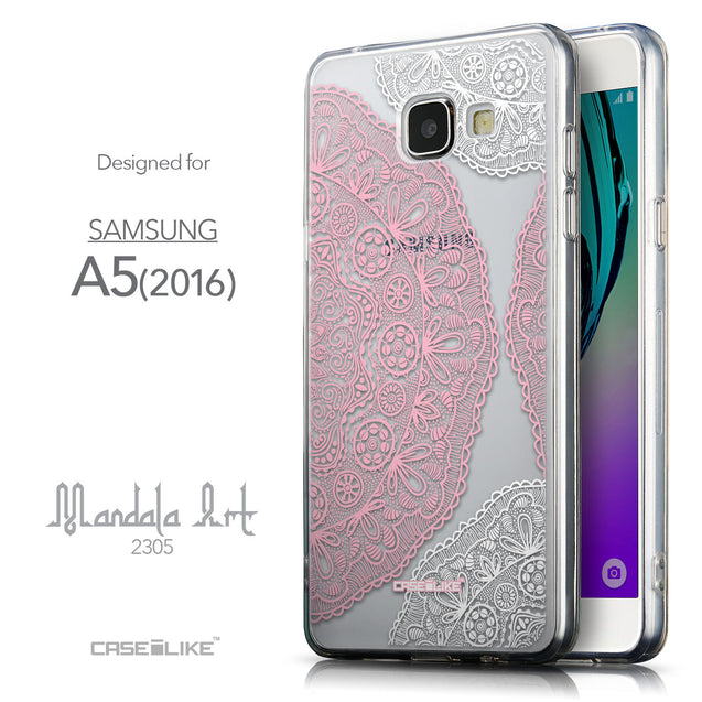 Front & Side View - CASEiLIKE Samsung Galaxy A5 (2016) back cover Mandala Art 2305