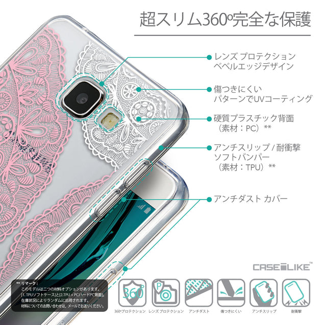 Details in Japanese - CASEiLIKE Samsung Galaxy A5 (2016) back cover Mandala Art 2305