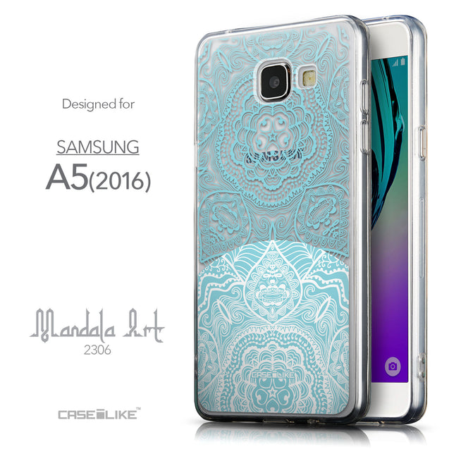 Front & Side View - CASEiLIKE Samsung Galaxy A5 (2016) back cover Mandala Art 2306