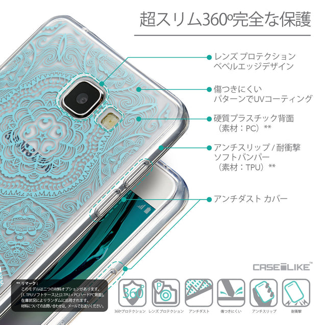 Details in Japanese - CASEiLIKE Samsung Galaxy A5 (2016) back cover Mandala Art 2306