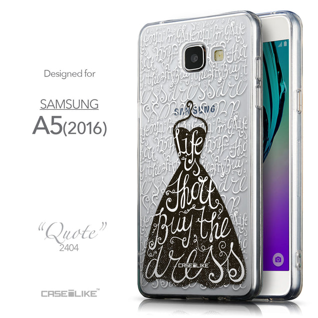 Front & Side View - CASEiLIKE Samsung Galaxy A5 (2016) back cover Indian Tribal Theme Pattern 2053