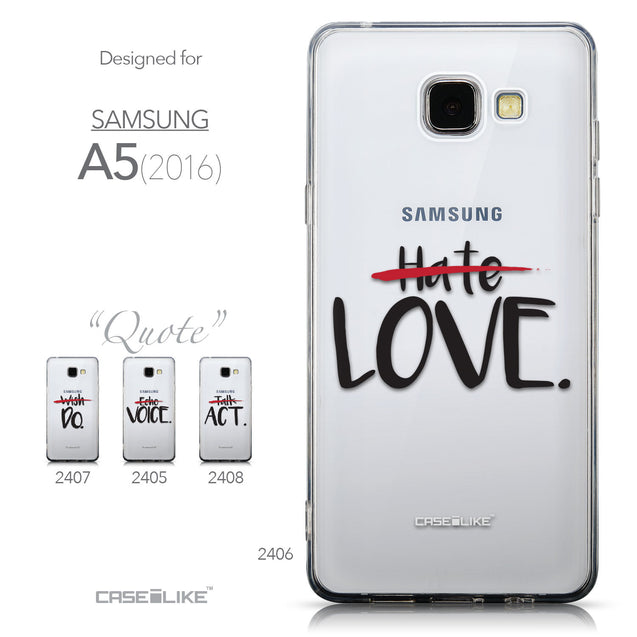 Collection - CASEiLIKE Samsung Galaxy A5 (2016) back cover Quote 2406