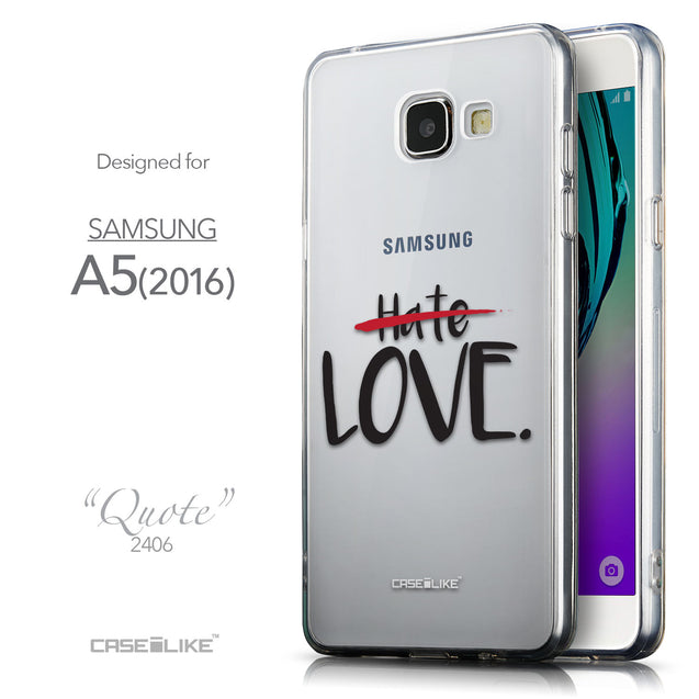 Front & Side View - CASEiLIKE Samsung Galaxy A5 (2016) back cover Quote 2406