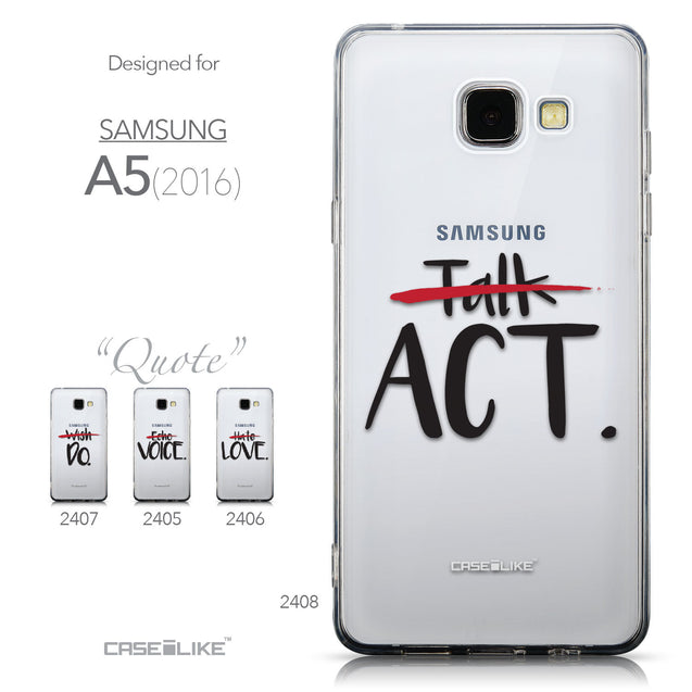 Collection - CASEiLIKE Samsung Galaxy A5 (2016) back cover Quote 2408