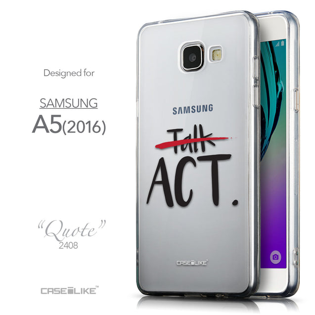Front & Side View - CASEiLIKE Samsung Galaxy A5 (2016) back cover Quote 2408
