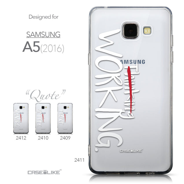 Collection - CASEiLIKE Samsung Galaxy A5 (2016) back cover Quote 2411